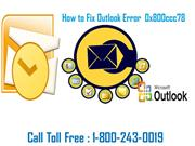 Steps to fix outlook error 0x800ccc78