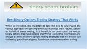 Best Binary Options Trading Strategy That Works