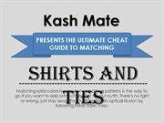 Appropriate Combinations for your Shirts and Ties