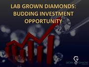 LAB GROWN DIAMONDS:BUDDING INVESTMENT OPPORTUNITY