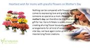 Heartiest Wish for moms with graceful flowers on Mother's Day