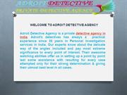 Best Detective Agency in India || Adroit Detective