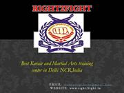 Right2Fight: The Only Place to Learn Karate Training in Delhi NCR.
