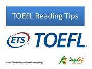 TOEFL Reading Tips
