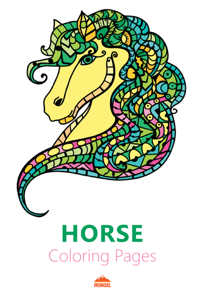 Horse Coloring Pages - Printable Coloring Book for Adults ...