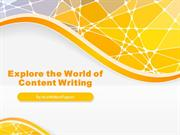 Content Writing is an Integral Part of Your Web Presence