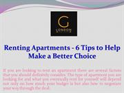 Renting Apartments - 6 Tips to Help Make