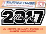 VJIM HYDERABAD SEES GRADUATES OF CLASS OF 2017 JOINING TOP COMPANIES A