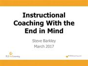 Phorms Workshop Mar. 24, 2017 Instructional Coaching