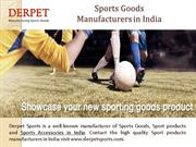 Sport Products Manufacturers in India