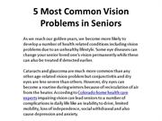 5 Most Common Vision Problems in Seniors
