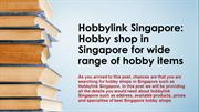 Hobbylink Singapore Hobby shop
