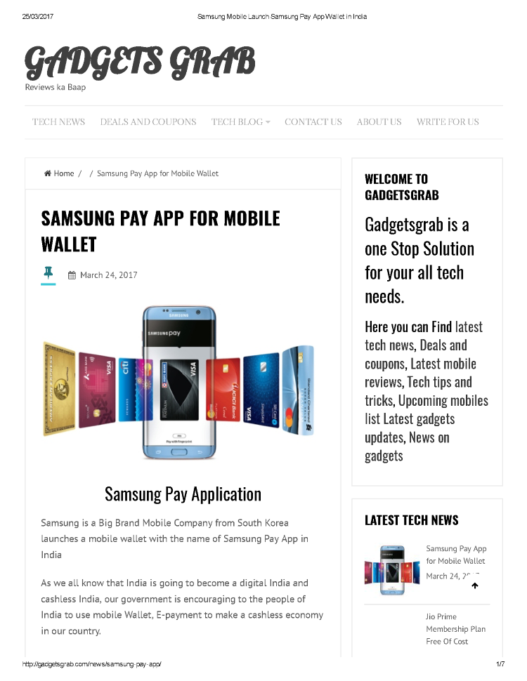 Samsung Mobile Launch Samsung Pay App Wallet in India |authorSTREAM