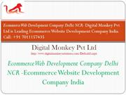 Ecommerce Web Development Company Delhi NCR -Ecommerce Website Develop