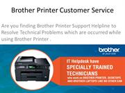 Technical Errors Resolve by Brother Printer Support Team