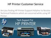 Contact HP Printer Customer Service Number to Solve Errors