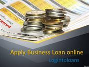 Apply Business Loan online, Business Loan India, online Business loans