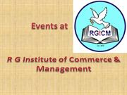 EVENTS AT RGICM