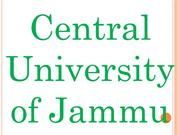 Central University of Jammu Courses Admission Results Admit card Fees