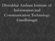 Dhirubhai Ambani Distance Education Institute Technology Gandhinagar
