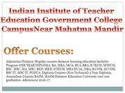 Indian Institute  Teacher Education Government College Campus Near Mah
