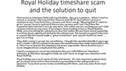 Royal Holiday timeshare scam and how qui