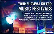 Tips on surviving music festivals