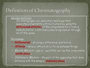 Definition of Chromatography