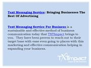 Text Messaging Service For Business