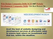 Web Design Companies Delhi NCR and Website Development Companies Delhi