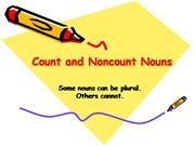 Unit 3 Non and Count Nouns