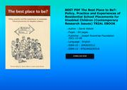BEST PDF The Best Place to Be Policy Practice and Experiences of Resid