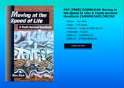 PDF FREE DOWNLOAD Moving at the Speed of Life A Youth Survival Handboo