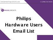 Philips Hardware Users Email List