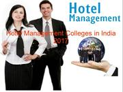 Hotel Management Colleges in India 2017