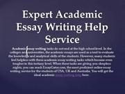 Academic Essay Help - Get Help with Academic Essay Writing