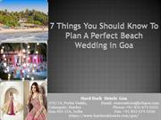 7 Things You Should Know To Plan A Perfect Beach Wedding in Goa