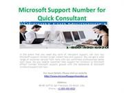Microsoft Support Number for Quick Consultant