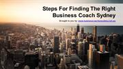 Steps For Finding The Right Business Coach Sydney