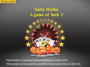 Satta Matka A game of  luck !!