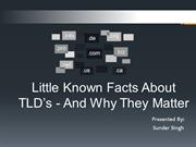 Little Known Facts About TLD's - And Why They Matter