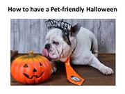 How to have a Pet-friendly Halloween