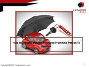 How To Transfer Vehicle Insurance From One Person To Another