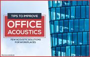 Few strategies to improve office acoustic environment
