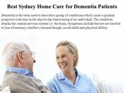 Best Sydney Home Care for Dementia Patients