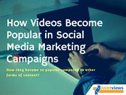 Why Videos are so Popular in Social Media Marketing Campaigns