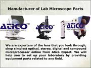 The Compound Parts of Microscope
