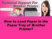 How to Load paper in the paper tray of Brother Printer?