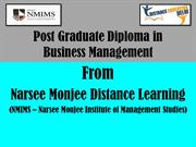 PG diploma in Business management from narsee monjee distance learning