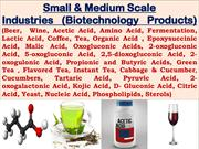 Small & Medium Scale Industries (Biotechnology Products)
